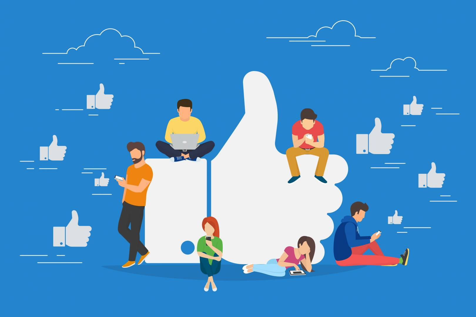 Social Media - Likes - Thumbs Up