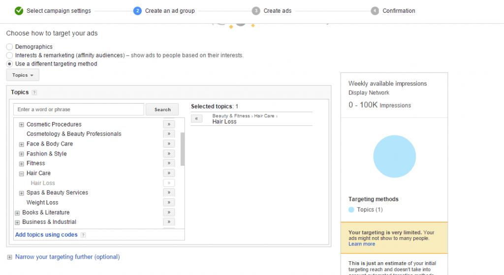 tips για το Google Display Network topics targeting