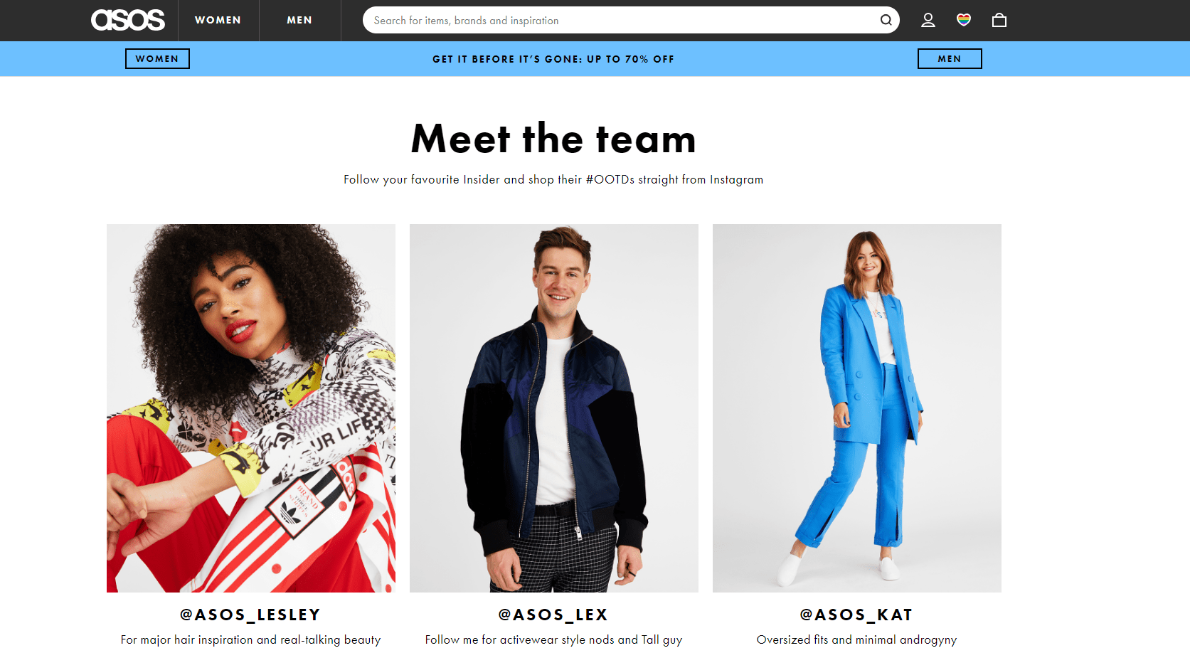 Influencer Marketing - Asos Insiders